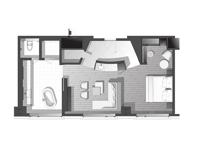Floor plan for room